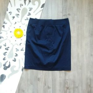 J. Crew Skirts - J. Crew | Navy Button-Detail Skirt